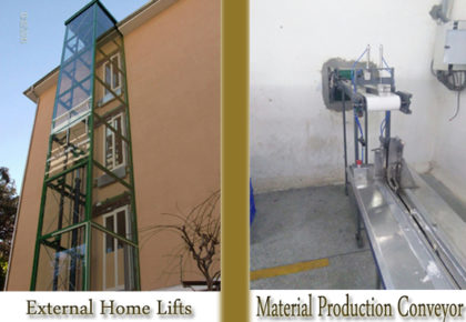 External home lift & Material production conveyor